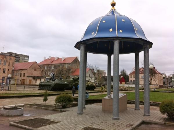 бронетехника в центре Советска 2