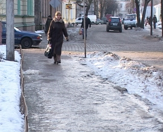 Холод и гололёд в Советске
