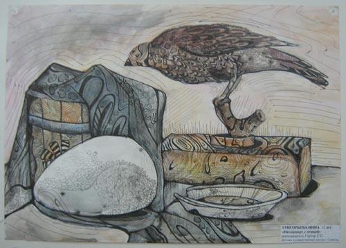 Григорьева Инна - Натюрморт с птицей