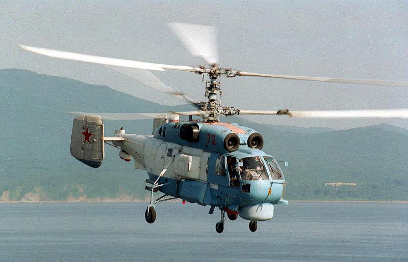 Вертолет Ка-27 сторожевого корабля Балтфлота