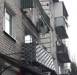 В Советске балкон упал